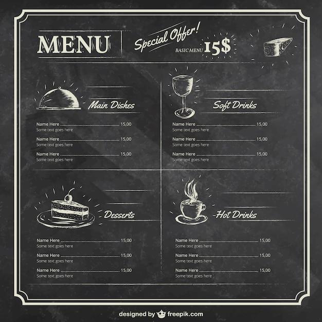 Restaurant menu template Vector   Free Download