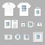 Merchandising and stationery mock up