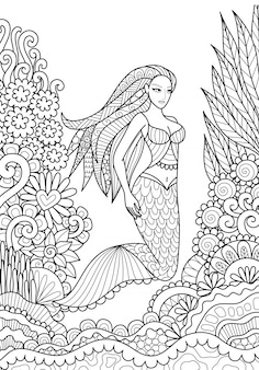 Mermaid background design