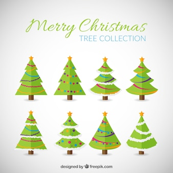 Merry christmas, trees collection