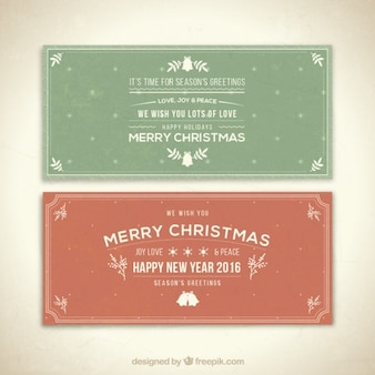 Merry Christmas and Happy New Year Banners Pack