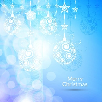 Merry christmas, blue background