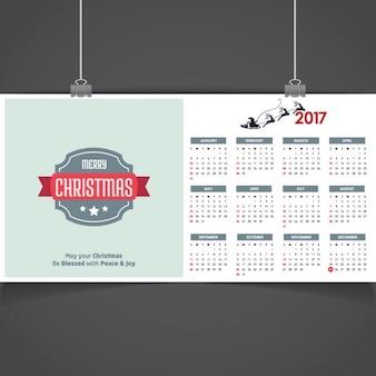 Merry christmas calendar 2017