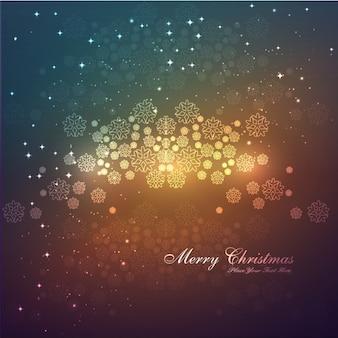 雪片の背景とメリークリスマスカード