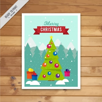 Merry christmas with a nice greeting card