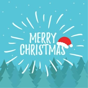 サンタの帽子とメリークリスマス