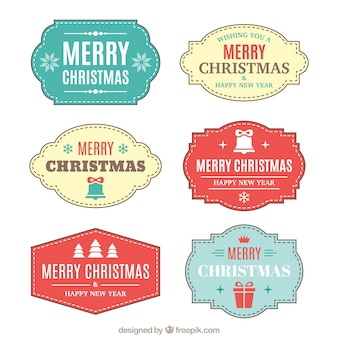 Merry christmas with several awesome badges