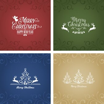 Merry christmas with several cards