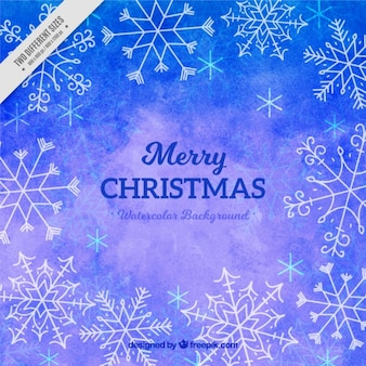 Merry christmas with watercolor background