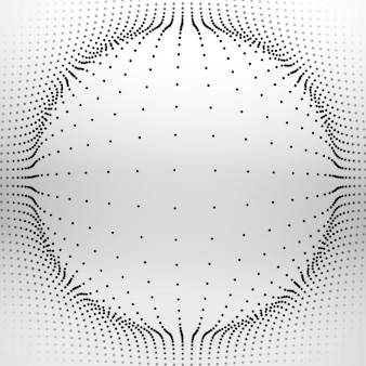 Mesh sphere made with circular dots
