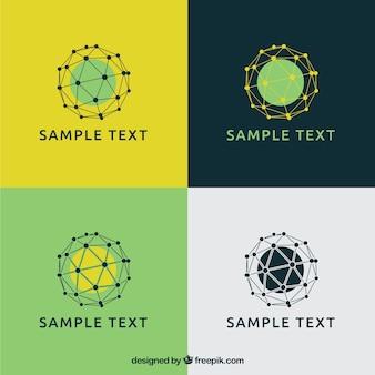 Mesh spheres logos