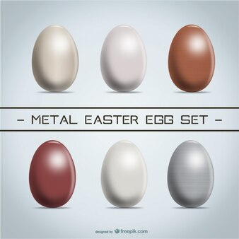 Metal Easter eggs set