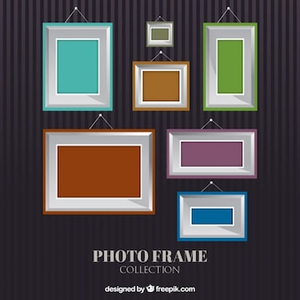 Metal frames with colored backgrounds