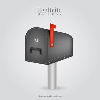 Metal mailbox background