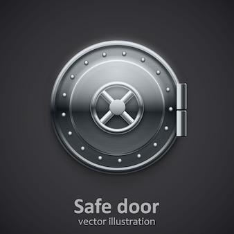Metal safe door realistic 3d object