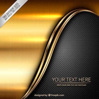 Metallic background in golden and dark colors