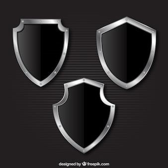 Metallic shields collection