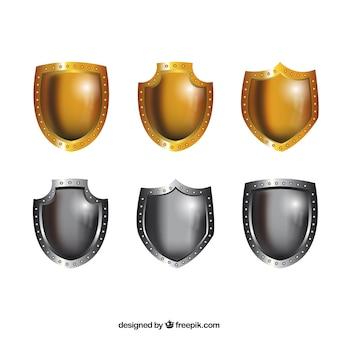 Metallic shields