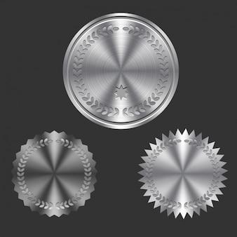 Metallic shiny insignias