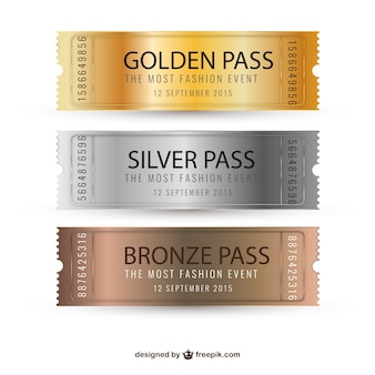 Metallic tickets