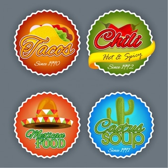 Mexican food sticker collection