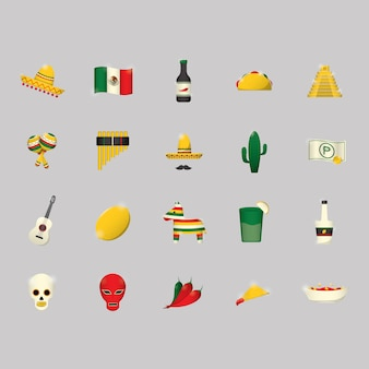 Mexican icons collection