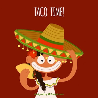 Mexican in cartoon style