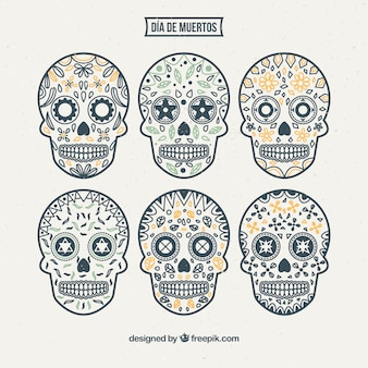 Mexican ornamental skull collection