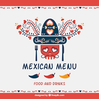 Mexican restaurant menu cover design