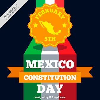 Mexico constitution day background with badge