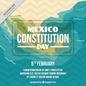 Mexico constitution day background