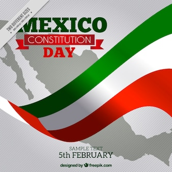 Mexico flag background for constitution day