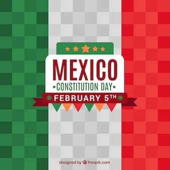 Mexico flag background in flat design