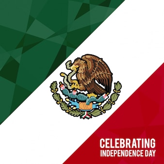 Mexico independence day background design