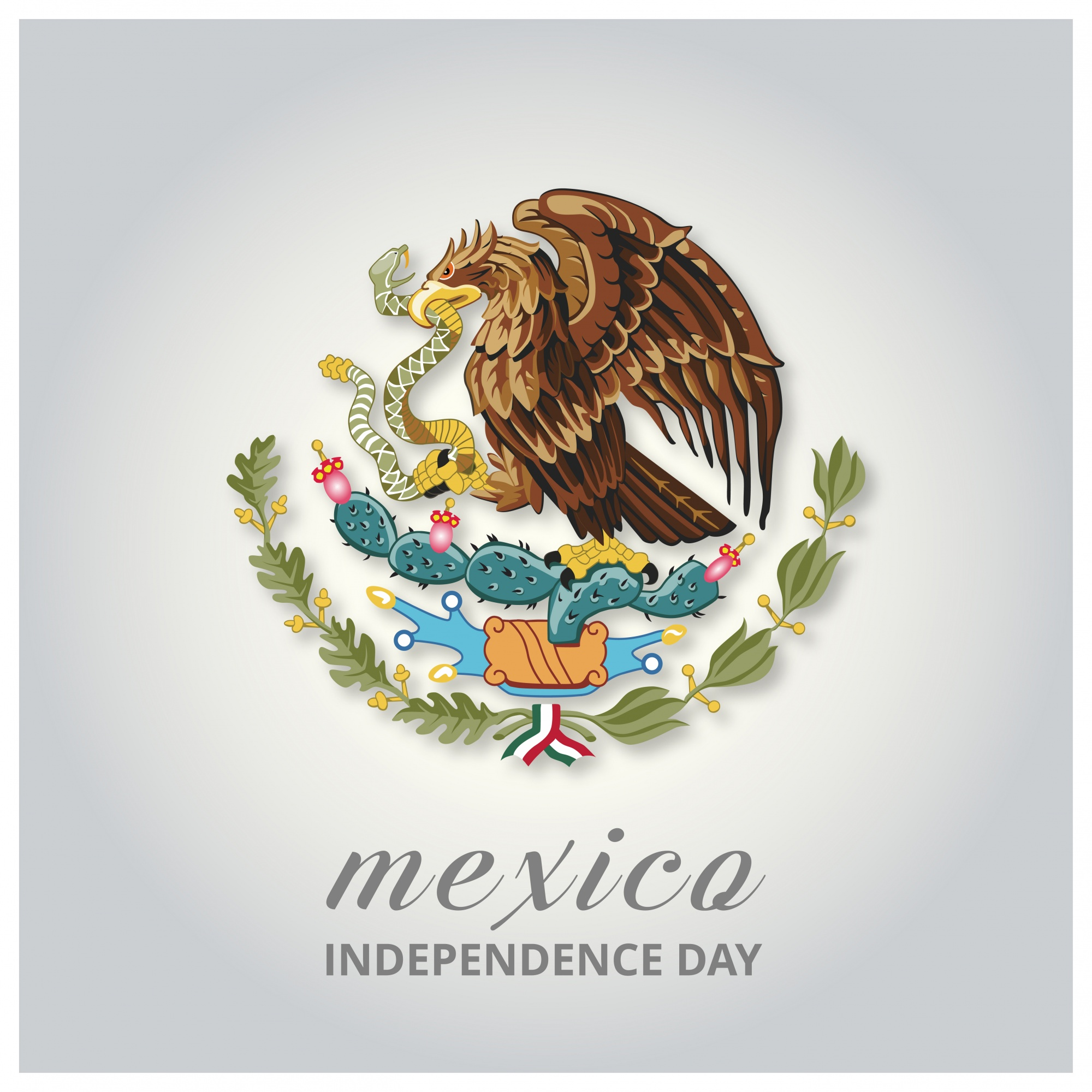 Mexico independence day design with eagle