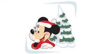 Micky with x mas tree