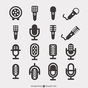 Microphone icons pack