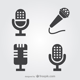 Microphone icons set