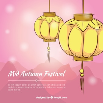 Mid autumn festival background