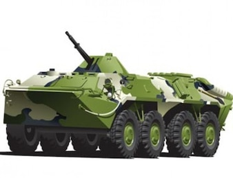 Military Armored Vehicle Vector