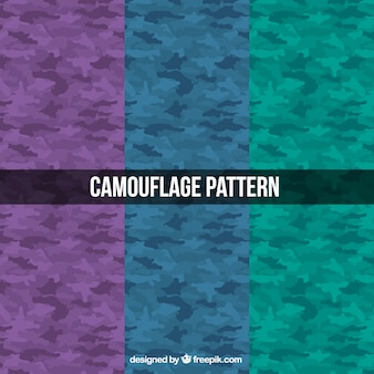 Military patterns of three colors