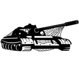 Military tank machine vector illustration