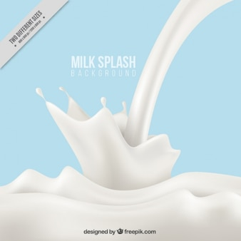 Milk falling
