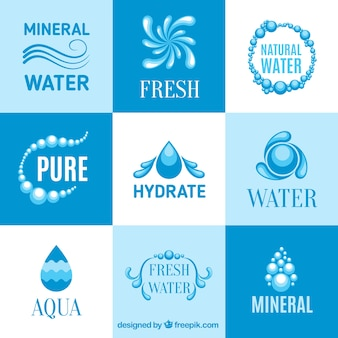 Mineral water logos