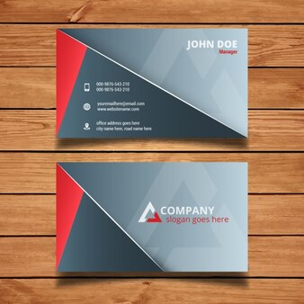 Minimal and modern red and gray business card