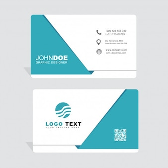 Minimal blue business card