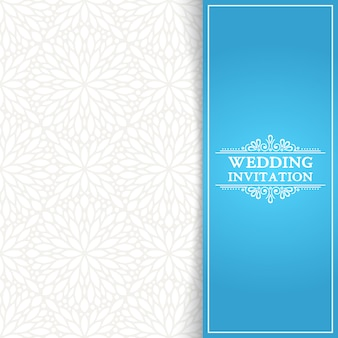 Minimal blue wedding invitation