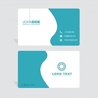 Minimal business card with wavy shapes