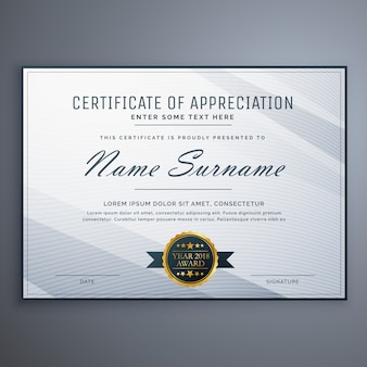 Minimal grey diploma design template