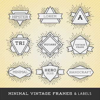 Minimal vintage labels